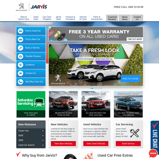 Jarvis PEUGEOT - Adelaide's only PEUGEOT dealer - New, Demo & Used Car Sales, Service, Parts & Accessories - Adelaide, South Aus