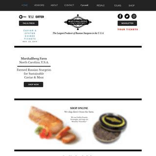 Marshallberg Farm - Osetra Caviar & Sturgeon - USA