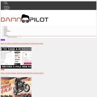 DAMNPILOT.COM - Travel, Tech, Bikes, Lifestyle, Food, Everything