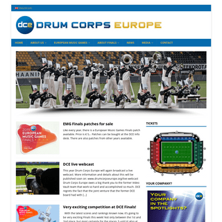 Drum Corps Europe – The European Music Games