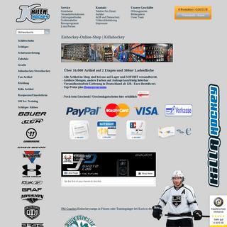 Eishockey-Online-Shop - Killahockey - Onlineshop für Eishockey- Inlinehockey- Zubehör und Eishockeyfashion.