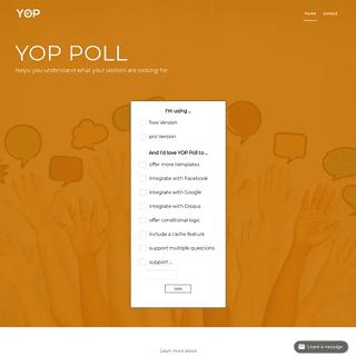 Yop-Poll.com – The perfect wordpress plugin for creating polls