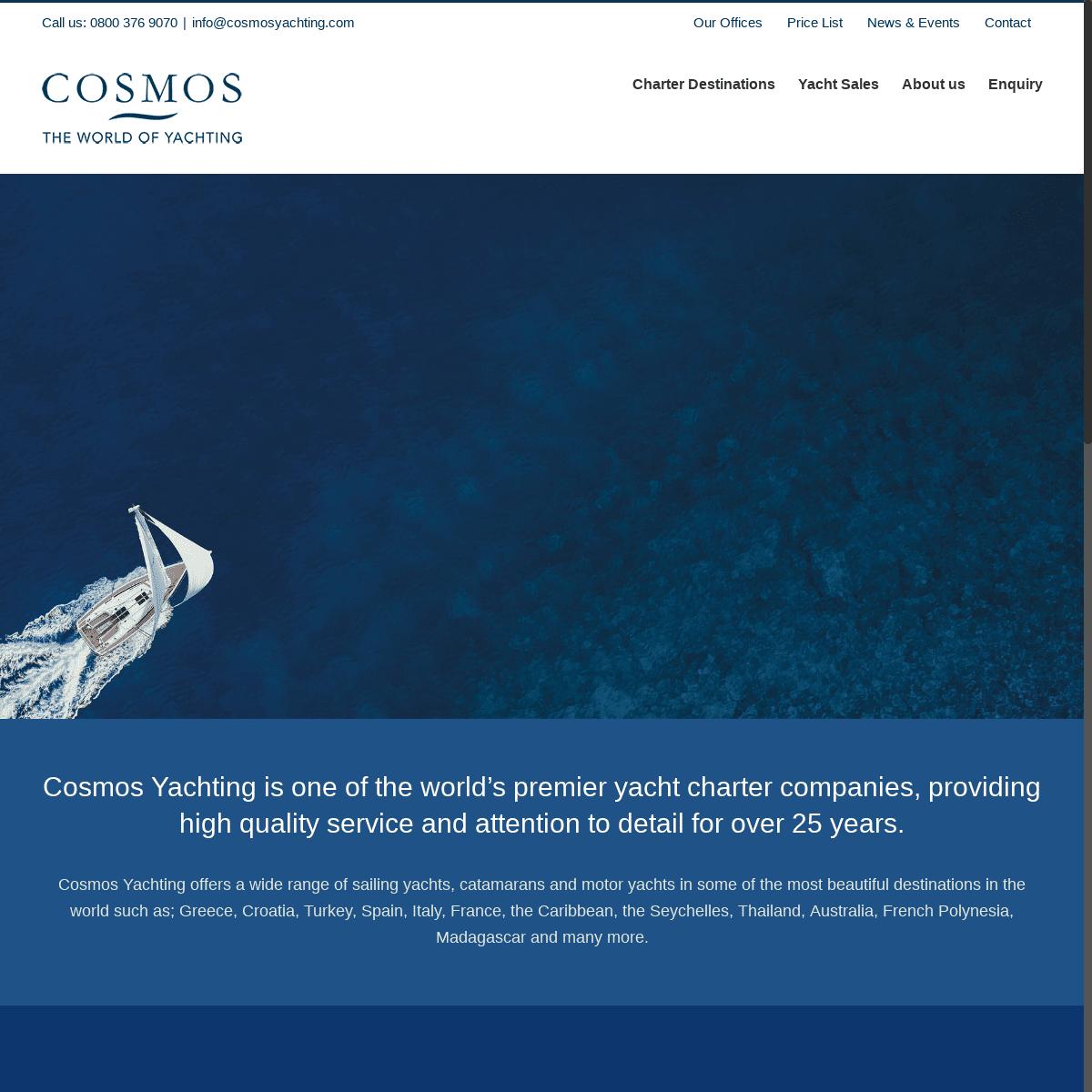 Cosmos Yachting LTD – Charter & Brokerage