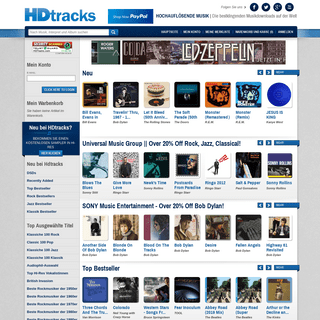 Hdtracks - German Home page - HDtracks - The World's Greatest-Sounding Music Downloads