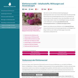 Klettenwurzelöl - Inhaltsstoffe, Wirkungen und Anwendungen