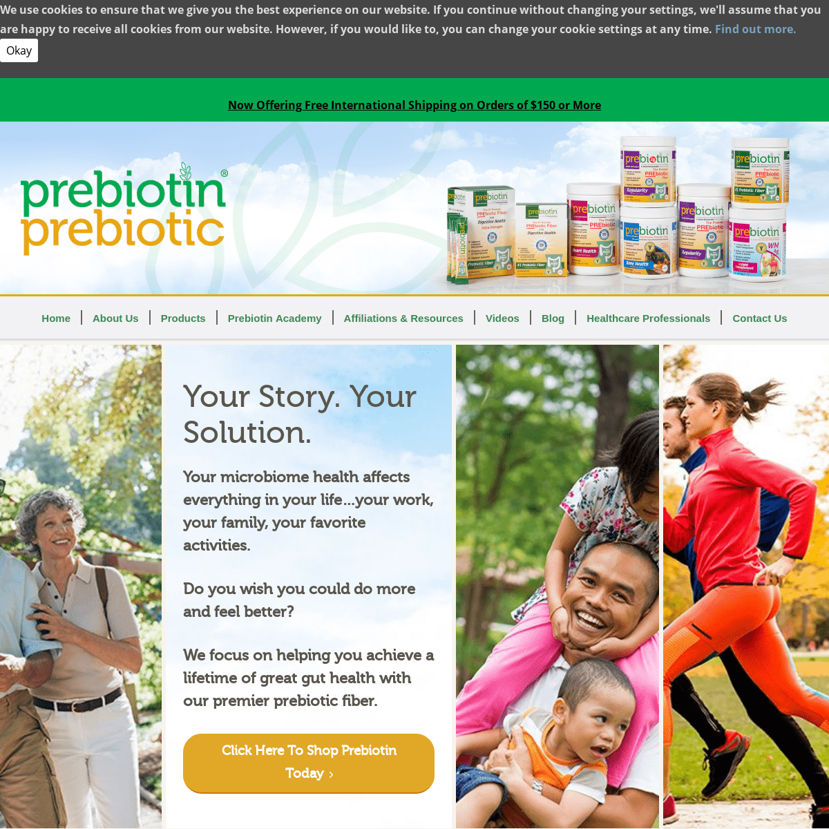 Prebiotic Supplements Backed By Science - Prebiotin™ Prebiotic Supplements