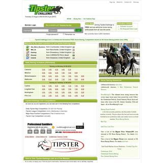 Tipsterchallenge.com free innovative horse racing competition free horse racing tips betting gambling flat national hunt all wea