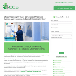 1st Week Free, Office Cleaning, Commercial Cleaning Sydney