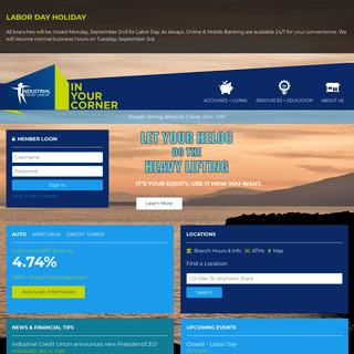 Home — Industrial Credit Union