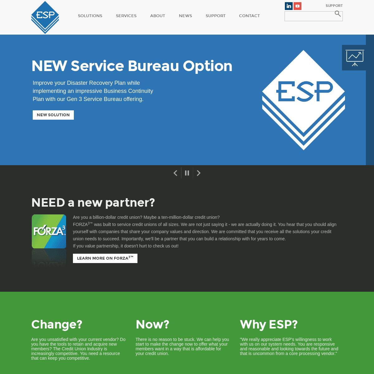ESP, Inc. - Credit Union Core Processing & More