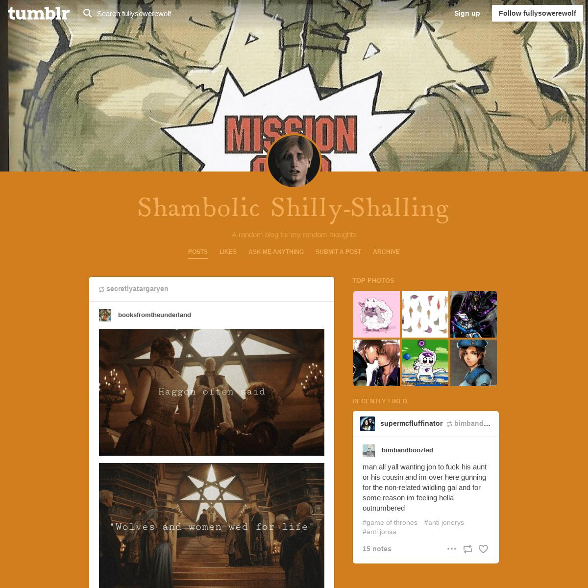Shambolic Shilly-Shalling