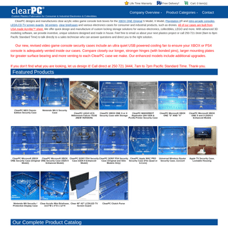 ClearPC Video Game Console Security Cases, Covers, Enclosures