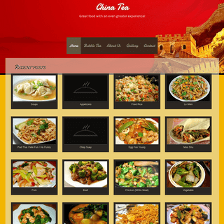 China Tea - Great food with an even greater experience!