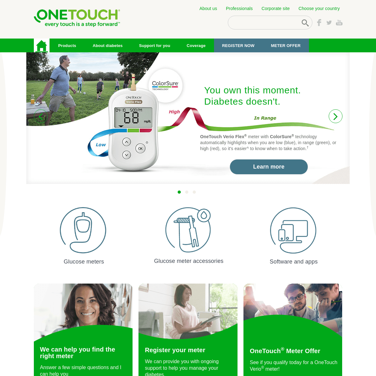 OneTouch® - Glucose Meters, Insulin Pumps & Diabetes Advice