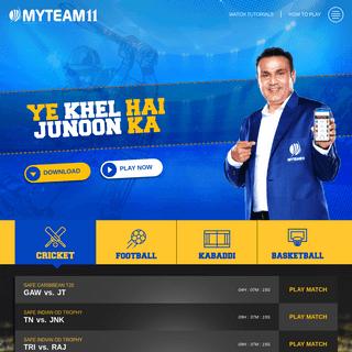 Play Fantasy Cricket, Football, Kabaddi, volleyball and Basketball online & win cash daily - MyTeam11