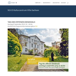 Villa Sachsen - Soka Gakkai International - Deutschland