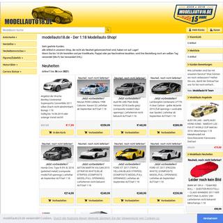 Der 1-18 Modellauto Shop! - modellauto18.de