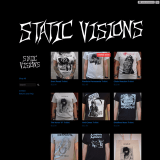 Home · Static Visions · Online Store Powered by Storenvy