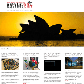 ArchiveBay.com - ravingroo.com - Raving Roo - Technology, Beer, and a Wobbly Boot