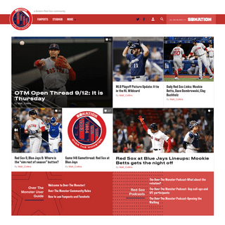 Over the Monster, a Boston Red Sox community