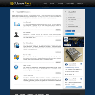 ArchiveBay.com - scialert.net - Science Alert- Journals, Authors, Subscribers, Publishers, Alert