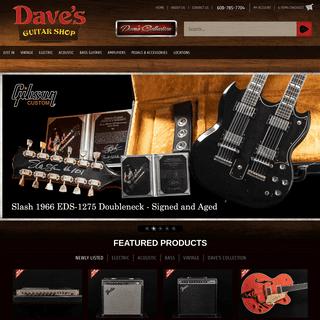 Home - Dave's Guitar Shop