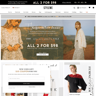 StyleWe - Shop for Women's Clothing - Designers at Fingertips!