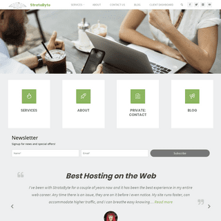 Premium WordPress Hosting by StrataByte - Hosting Redefined