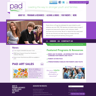 Home - Parent Action on Drugs - Healthy youth, families and communities