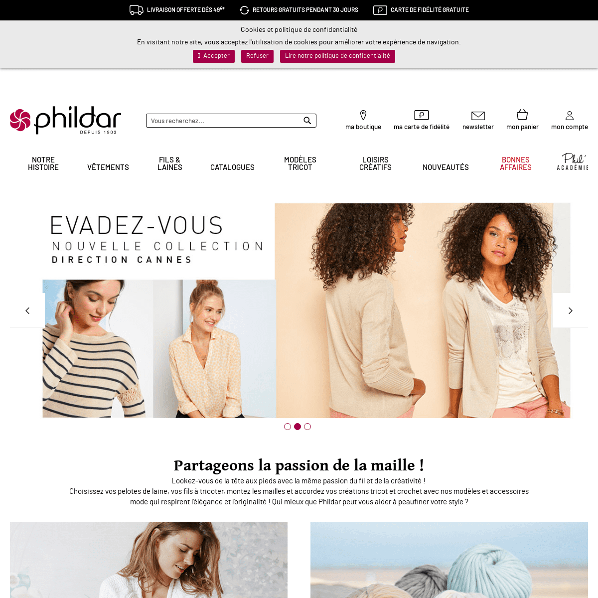 ArchiveBay.com - phildar.fr - PHILDAR - Achat Laine Tricot & Crochet • Depuis 1903 • Phildar