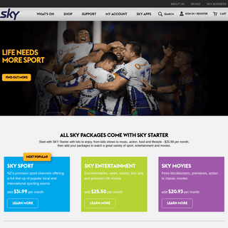 SKY - Watch the Best Entertainment, Sports, Movies & TV Shows