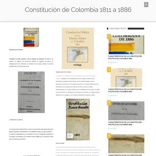 Constitución de Colombia 1811 a 1886