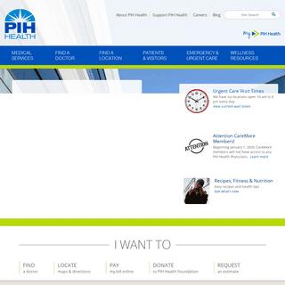 Welcome to PIH Health - PIH Health - Whittier, CA