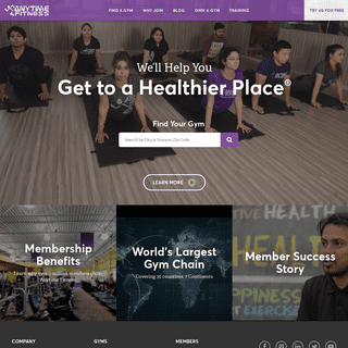 Anytime Fitness - 24 Hour Gyms - Get to a Healthier Place.