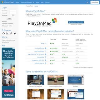 ArchiveBay.com - playonmac.com - Home - PlayOnMac - Run your Windows applications on Mac easily!