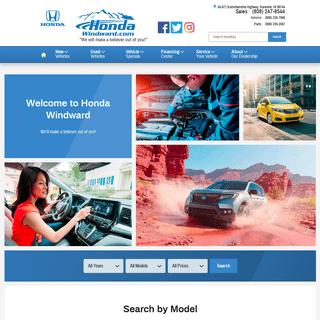 New 2019-2020 Honda & Used Car Dealer in Kaneohe, HI - Honda Windward