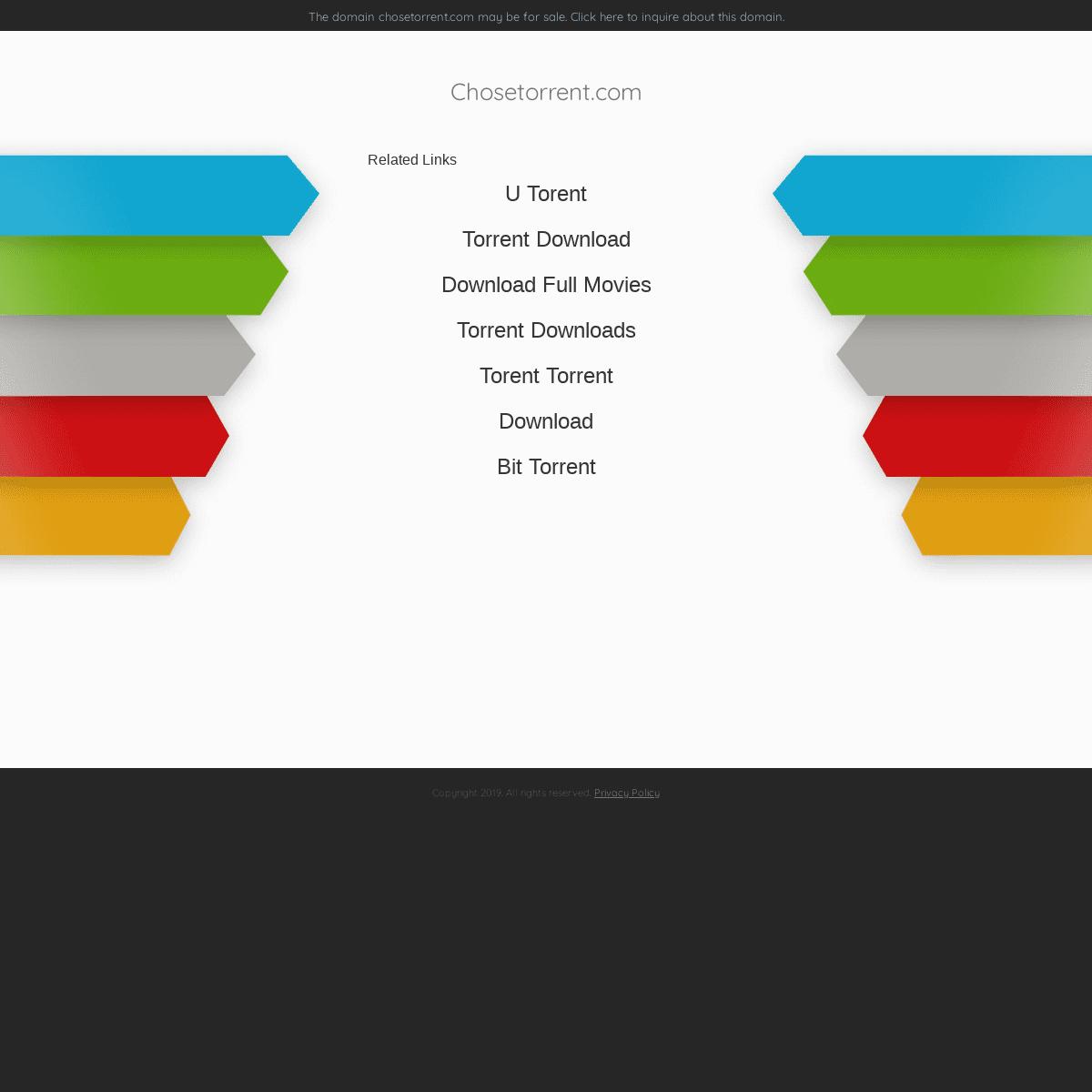 Chosetorrent.com