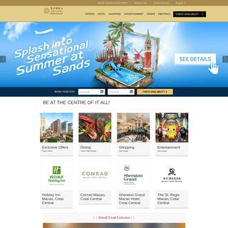 Macau Hotels - Best Hotels in Macau - Sands Cotai Central