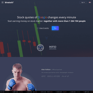 Binatex - trading with a profit up to 90-