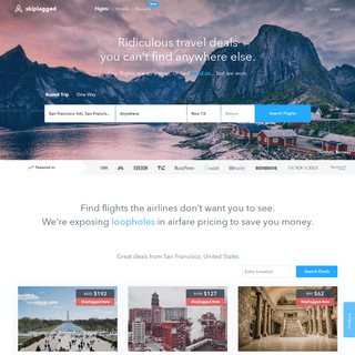 Skiplagged- The smart way to find cheap flights.