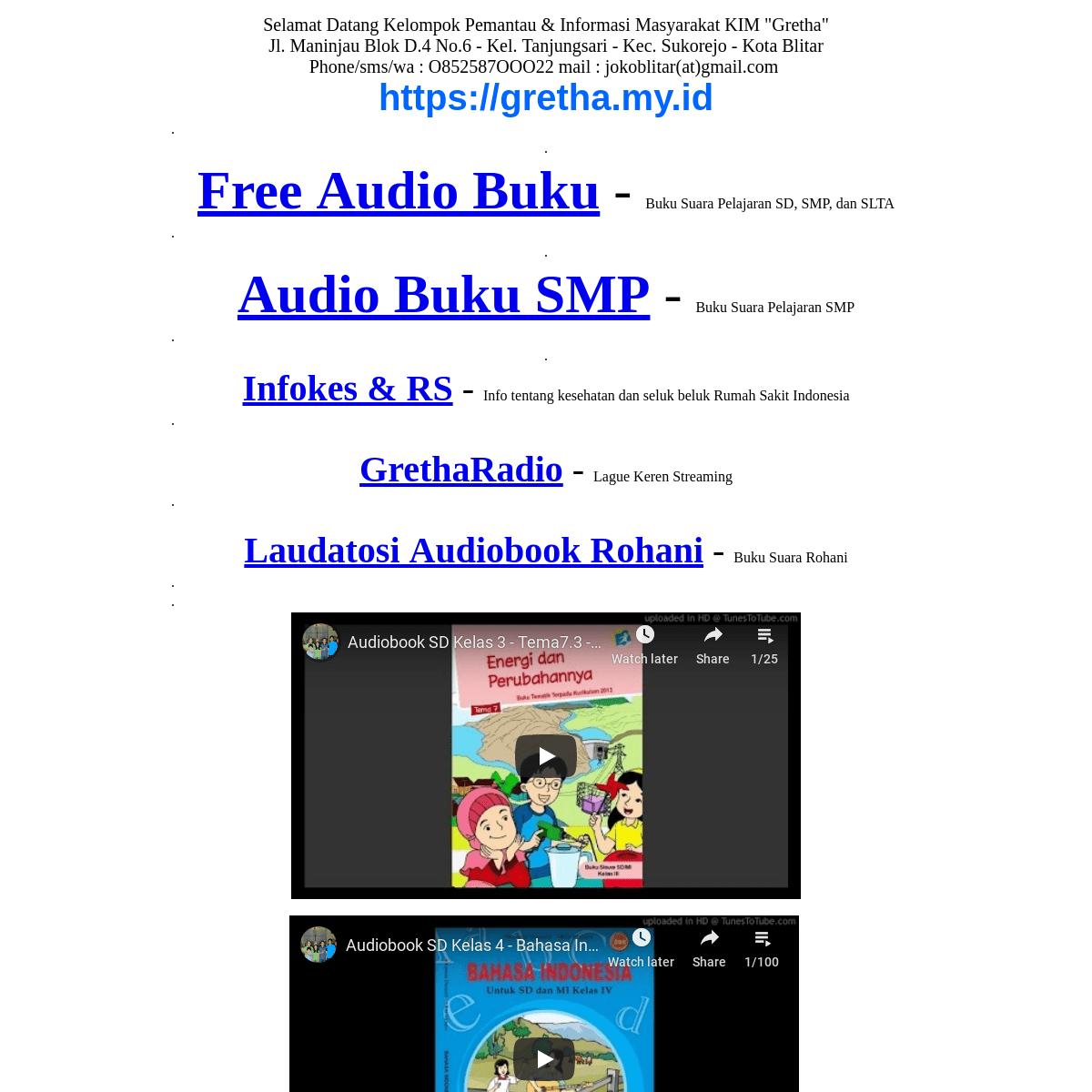 Gretha.My.id (Audiobuku Pendidikan Indonesia)