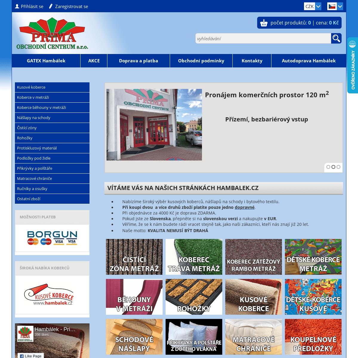 ArchiveBay.com - hambalek.cz - Koberce a bytový textil za prima ceny.