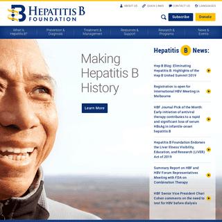 Home » Hepatitis B Foundation
