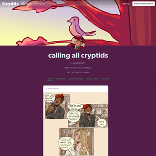 calling all cryptids