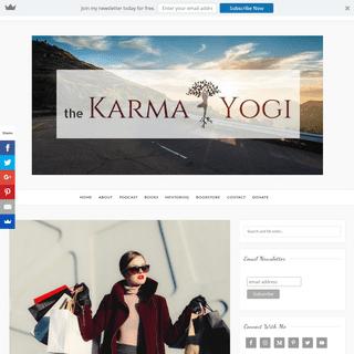 The Karma Yogi - Success is a Journey, not a Destination
