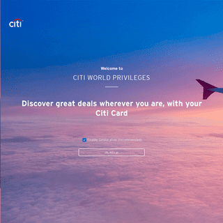 Welcome to the Citi World Privileges - Citibank- Credit and Debit Cards - Offers and Benefits - Citi World Privileges