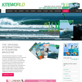 Kiteworld Magazine - The original international kitesurfing magazine