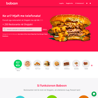 ArchiveBay.com - baboon.al - Baboon - Porosit ushqim online ne restorant, piceri, fast food