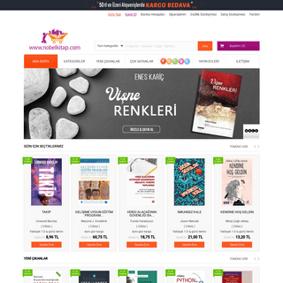 Nobel Kitap Online Satış - Kitabevi, İndirimli Kitap satın al