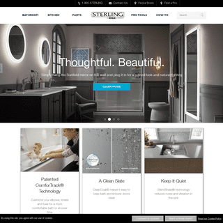 ArchiveBay.com - sterlingplumbing.com - Sterling Plumbing - Bathroom and Kitchen products, Shower Doors, Baths, Showers, Toilets, Bathroom Sinks, Kitchen Sinks